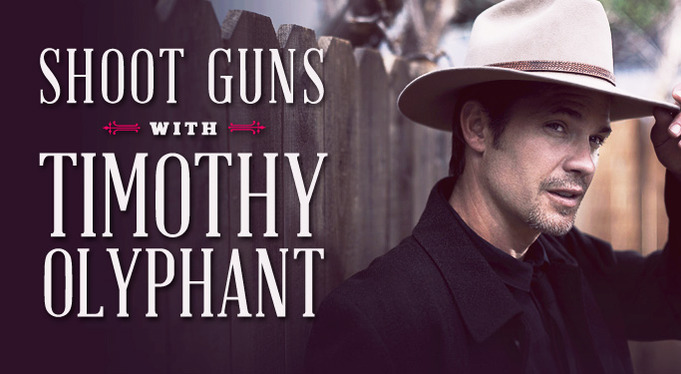 shoot guns with timothy olyphant