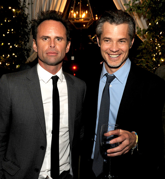 Tim & Walton Goggins at Justified Afterparty