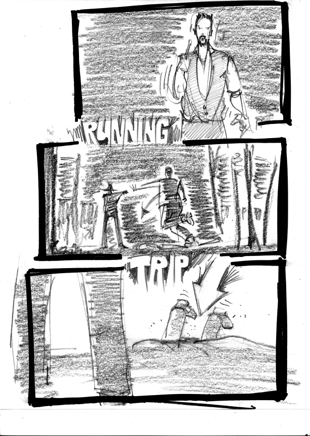 justified storyboard running