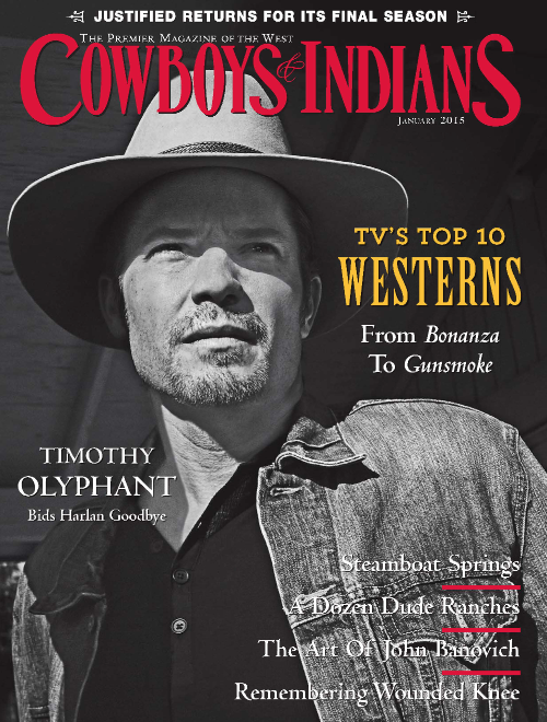 Tim Cover Cowboys & Indians Magazine January 2015